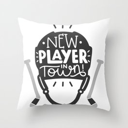 New player in town Throw Pillow