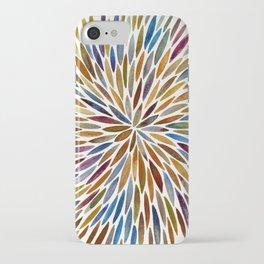 Watercolor Burst – Retro Palette iPhone Case