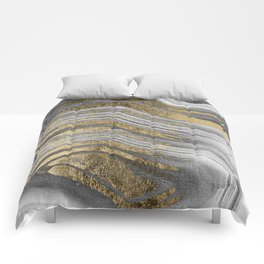 Abstract paint modern Comforters