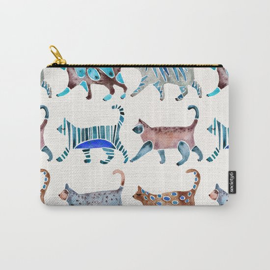 Cat Collection – Blue & Brown Palette Carry-All Pouch