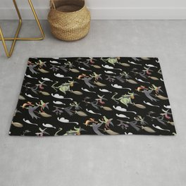 Witchy witches of Salem (black) Rug