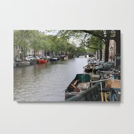 canal in the city Metal Print
