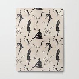 Dancing Figure Silhouette Metal Print