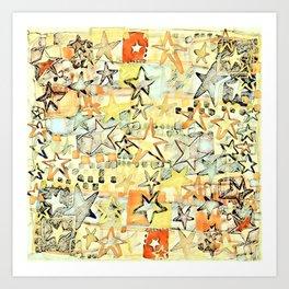 Stars in Citrus  Art Print