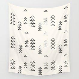 Minimalist Triangle Line Drawing Wall Tapestry