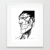 bleach Framed Art Prints featuring Bleach: Kenpachi  by nightfrost4