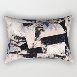 Beige et bois Rectangular Pillow