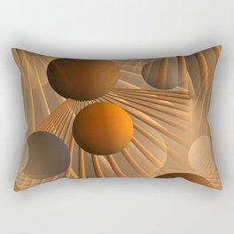 crazy lines and balls -4- Rectangular Pillow
