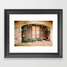 Mediterranean window Framed Art Print