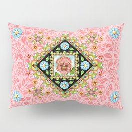 Pink Pansy Cottage Pillow Sham