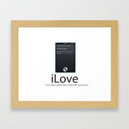 iLove Framed Art Print