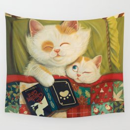 The cozy moment Wall Tapestry