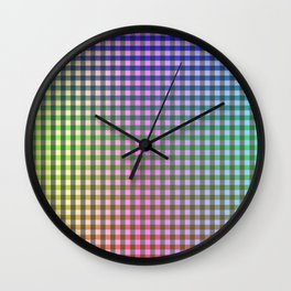 Gingham - Multicolored Wall Clock