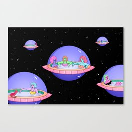 SPACE POD JACUZZIS Canvas Print