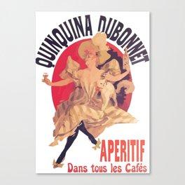 Quinquina Dubonnet Aperitif  Dans Tous Les Cafes Canvas Print