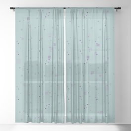 simple geometric pixel pattern 2 pbi Sheer Curtain