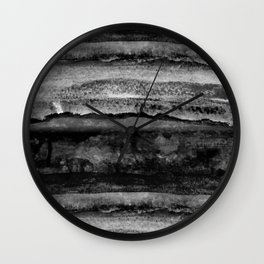 layers in grayscale Wall Clock