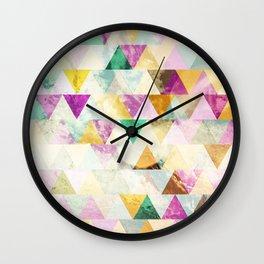 Triangles madness Wall Clock