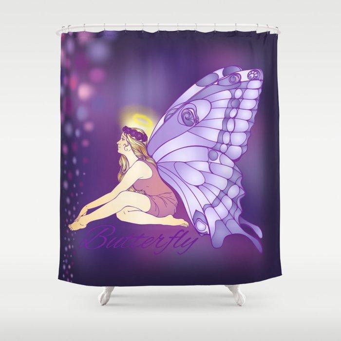 Purple Pixie Shower Curtain