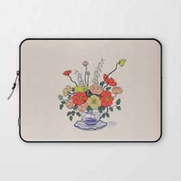 Teacup Flowers Laptop Sleeve