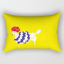 French Poodle Rectangular Pillow
