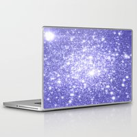 lavender Laptop & iPad Skins featuring Lavender Periwinkle Sparkle Stars by Whimsy Romance & Fun