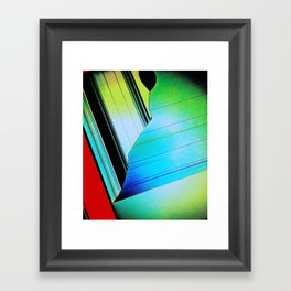 Screen Tear Framed Art Print