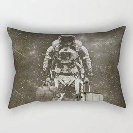 Space Traveller sepia Rectangular Pillow