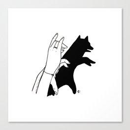 Bear shadow Canvas Print