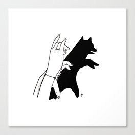 Bear shadow Canvas Print