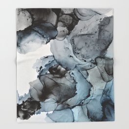 Smoke Show - Alcohol Ink Painting Throw Blanket