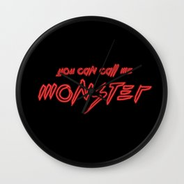Neon Monster Wall Clock