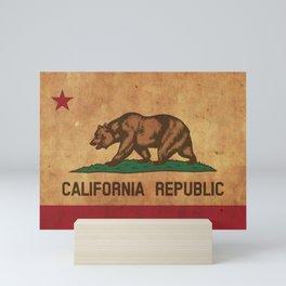 California Republic Vintage Flag Mini Art Print