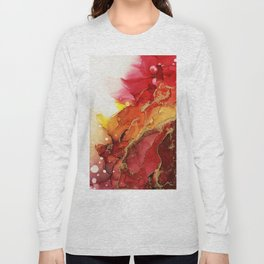Golden Flame Abstract Ink - Part 1 Long Sleeve T-shirt