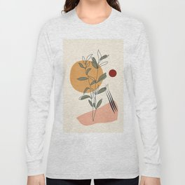 Minimal Line Young Leaves Long Sleeve T-shirt