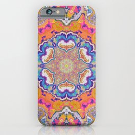 melting into meaning mandala iPhone Case