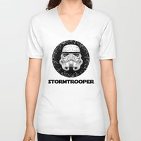 stormtrooper V-neck T-shirts featuring stormtrooper by Tarik Ali Sert