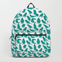Retro birds in green Backpack