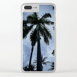 Palm Trees of Waikiki Clear iPhone Case