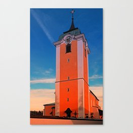 The village church of Neufelden IV   architectural photography Canvas Print