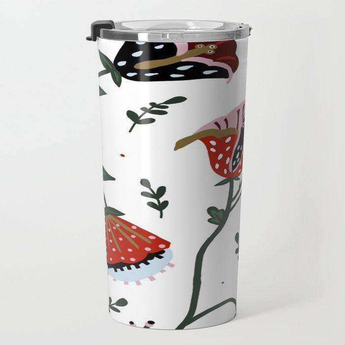 Whimsical Florals Travel Mug