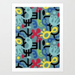 Retro Interlock Art Print
