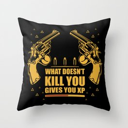Gamer Experience Points Shooter Throw Pillow