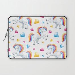 Neck Gaiter White Unicorns Rainbow Mane Neck Gator Laptop Sleeve
