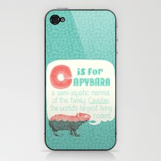 C is for Capybara iPhone & iPod Skin