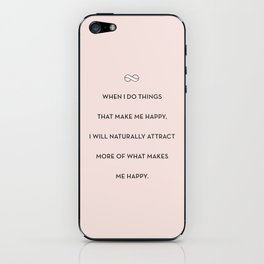 Attract More Happy iPhone Skin