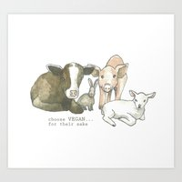 Choose Vegan Art Print