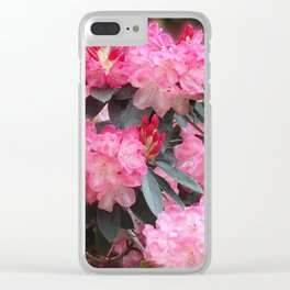 Dreamy Pink Rhododendrons Clear iPhone Case