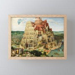 The Tower of Babel by Pieter Bruegel the Elder, 1563 Framed Mini Art Print