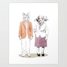 Bestial grandparents Art Print